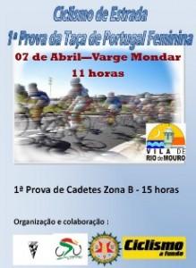 Ciclismo- Taça de Portugal Feminina e Cadetes realiza-se em Varge Mondar (Rio de Mouro) no dia 7