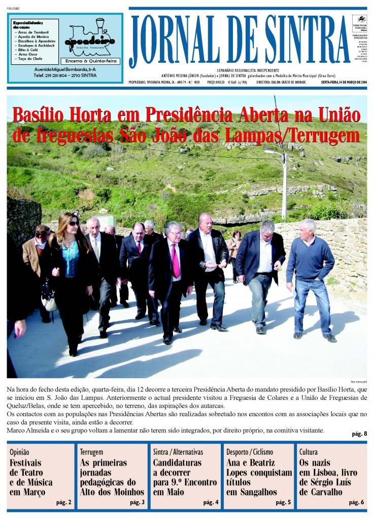Capa de 14 de Março 2013