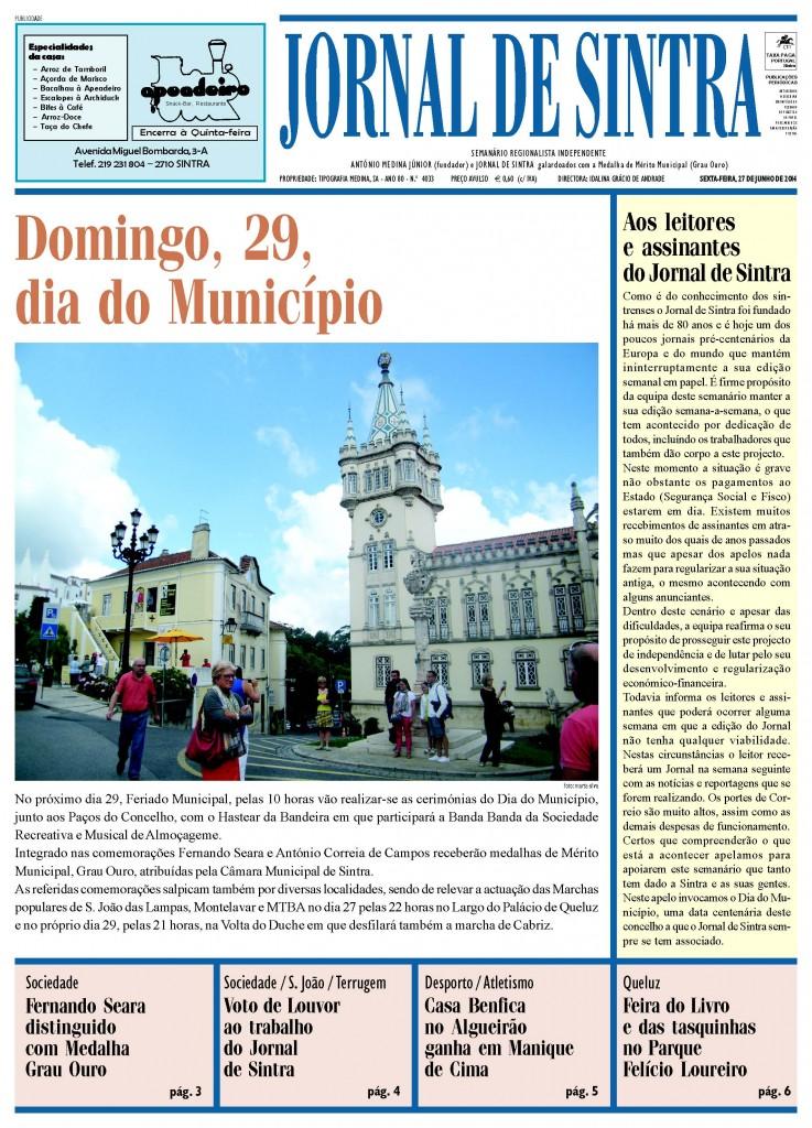 Capa JS de 27-6-2014