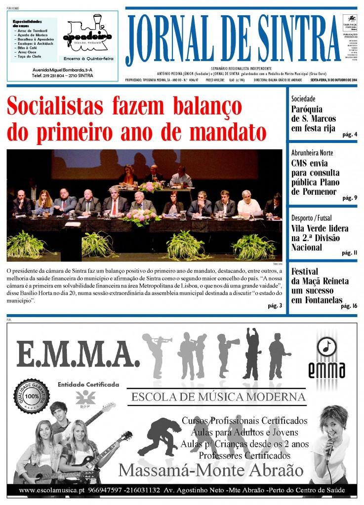 Capa de 31 de Outubro de 2014