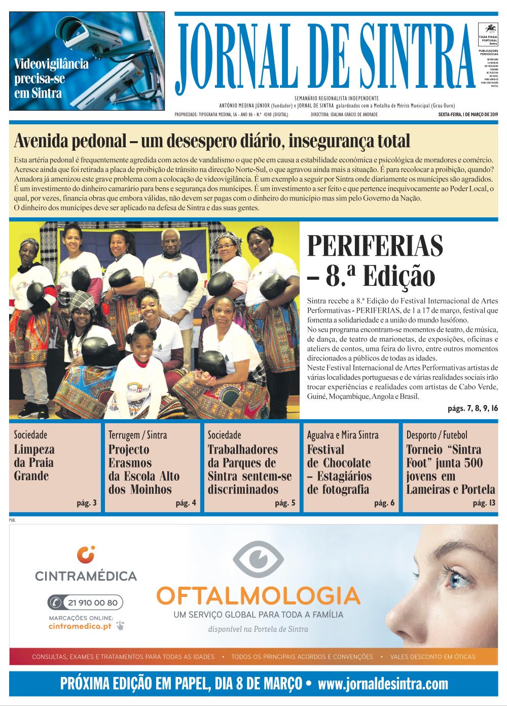 Capa da edição de 01/03/2019