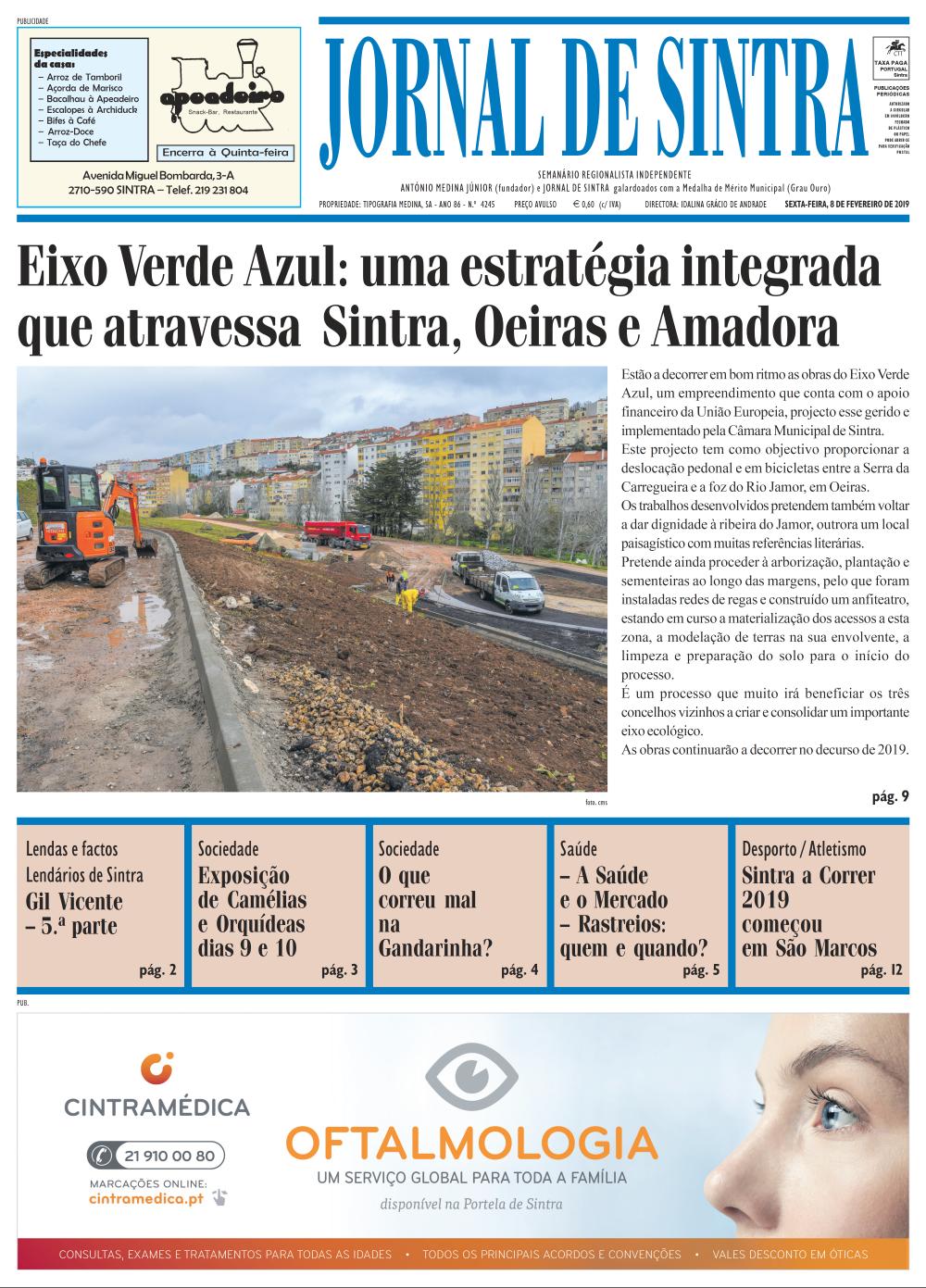 Capa da edição de 08/02/2019