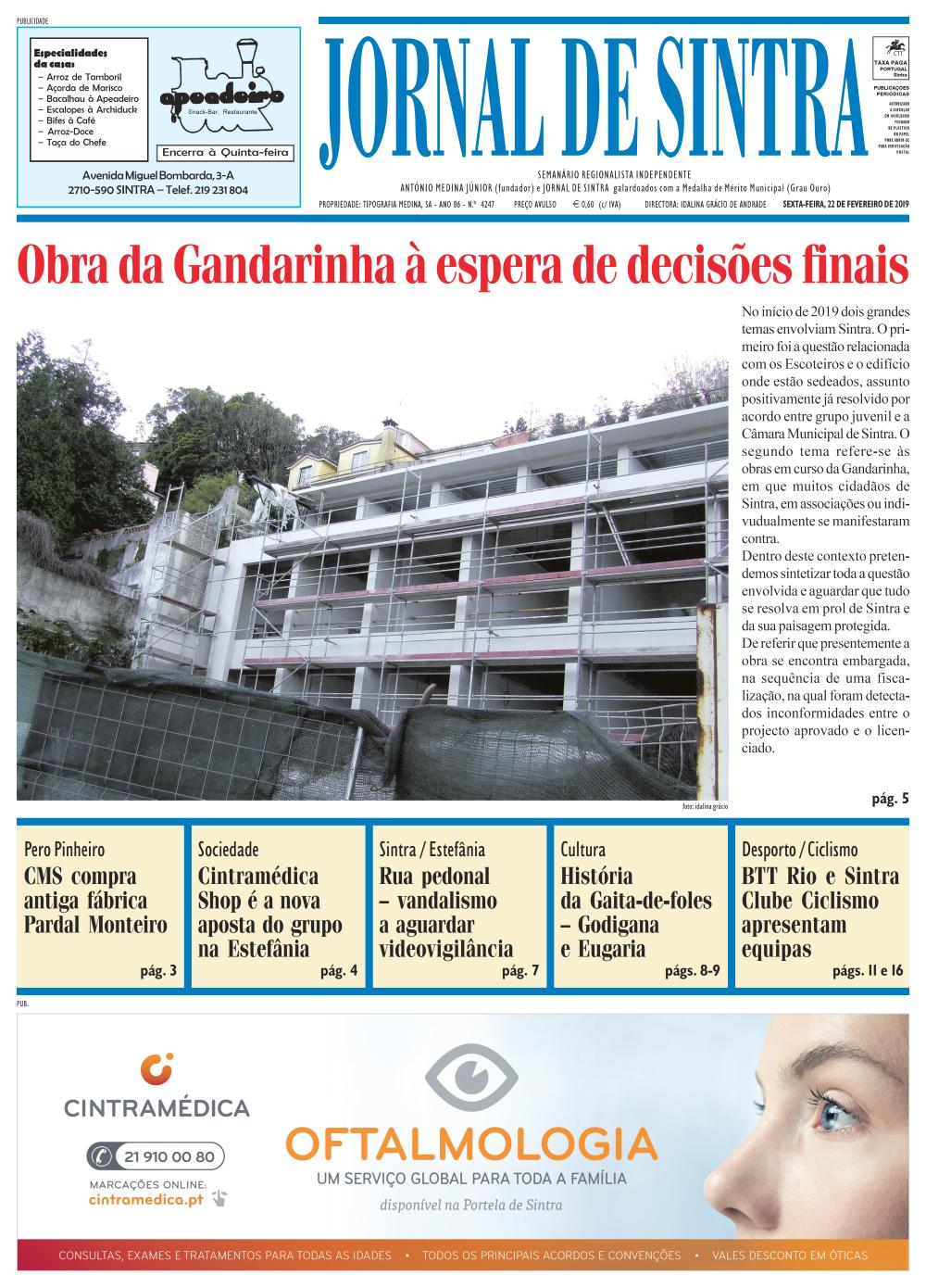 Capa da edição de 22/02/2019