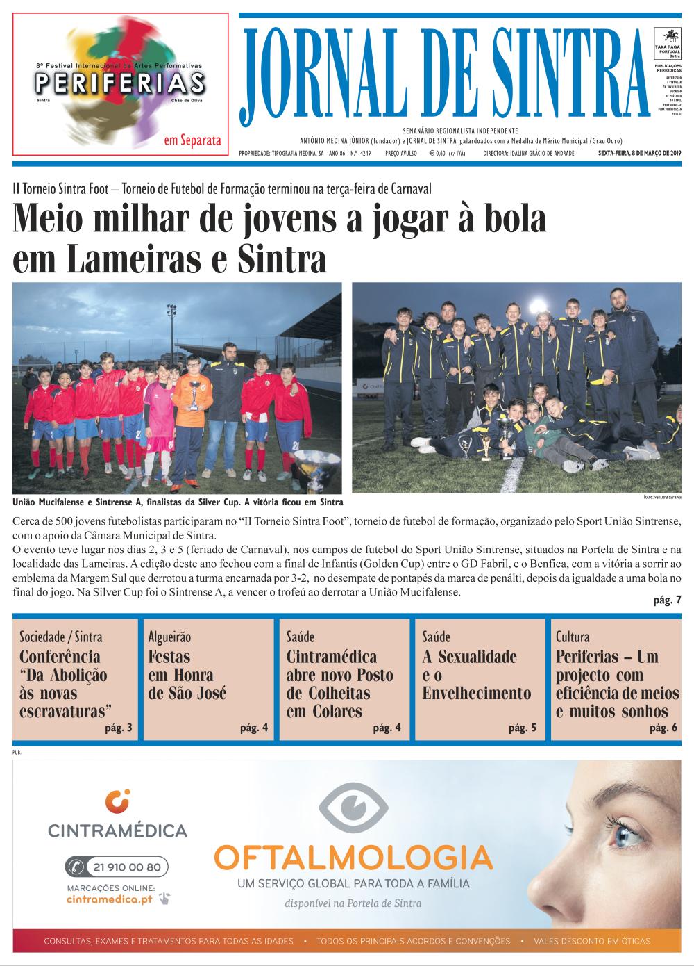 Capa da edição de 08/03/2019