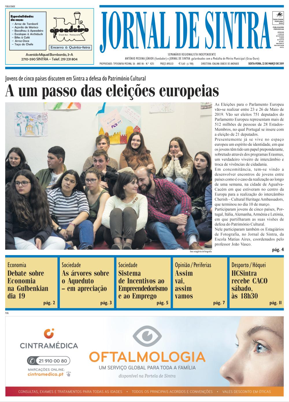 Capa da edição de 22/03/2019