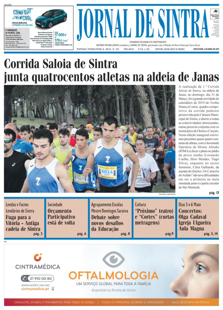 Capa da edição de 05/04/2019