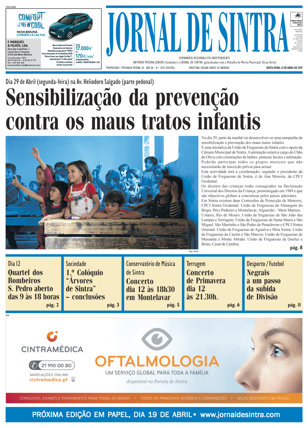 Capa da edição de 12/04/2019