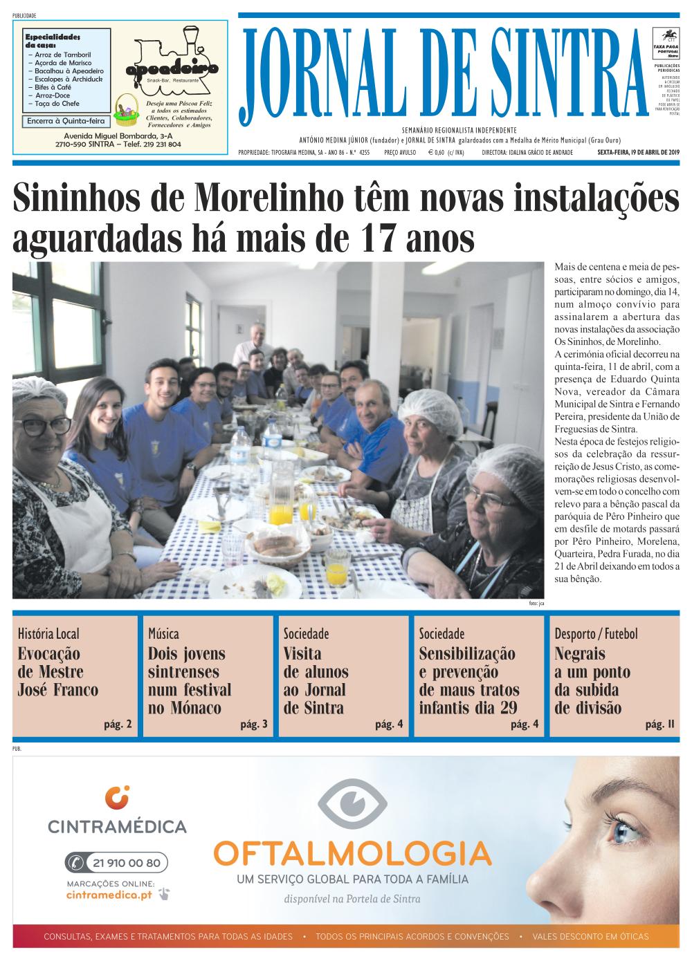 Capa da edição de 18/04/2019