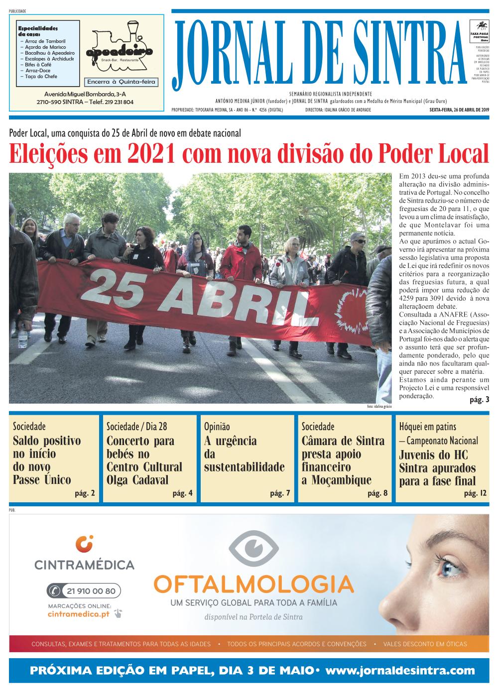 Capa da edição de 26/04/2019