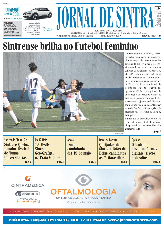 Capa da edição de 10/05/2019