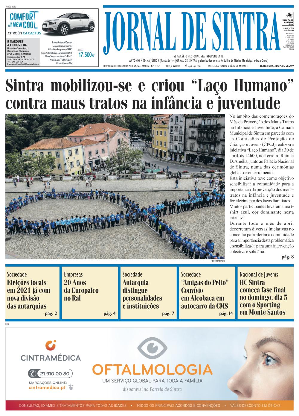 Capa da edição de 03/05/2019