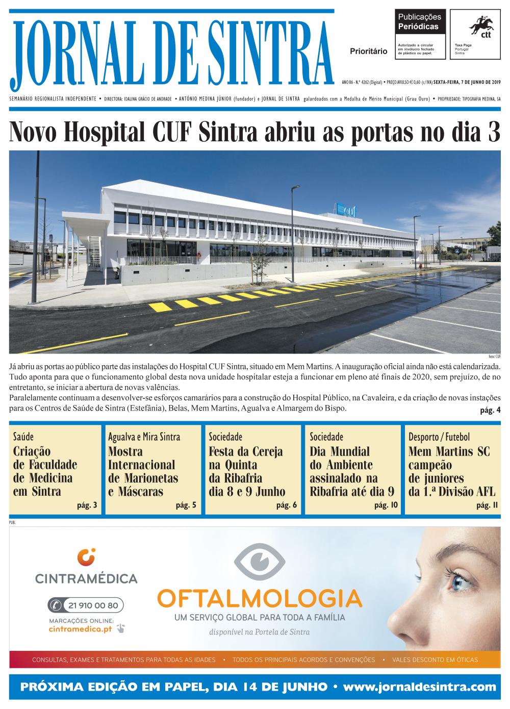Capa da edição de 07/06/2019