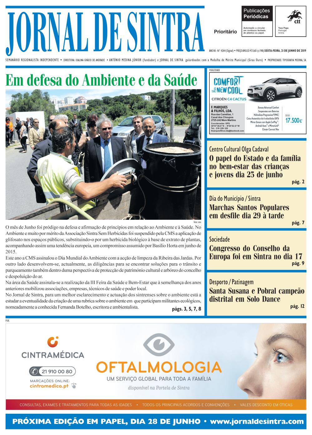 Capa da edição de 21/06/2019