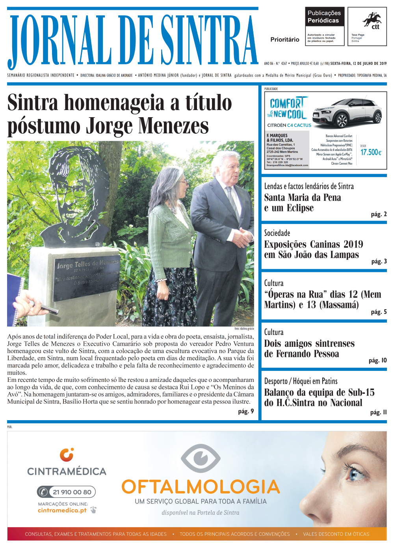 Capa da edição de 12/07/2019