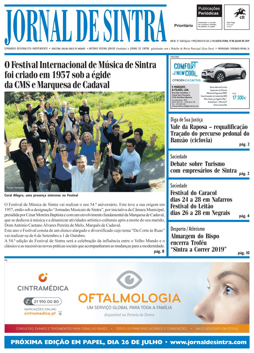 Capa da edição de 19/07/2019