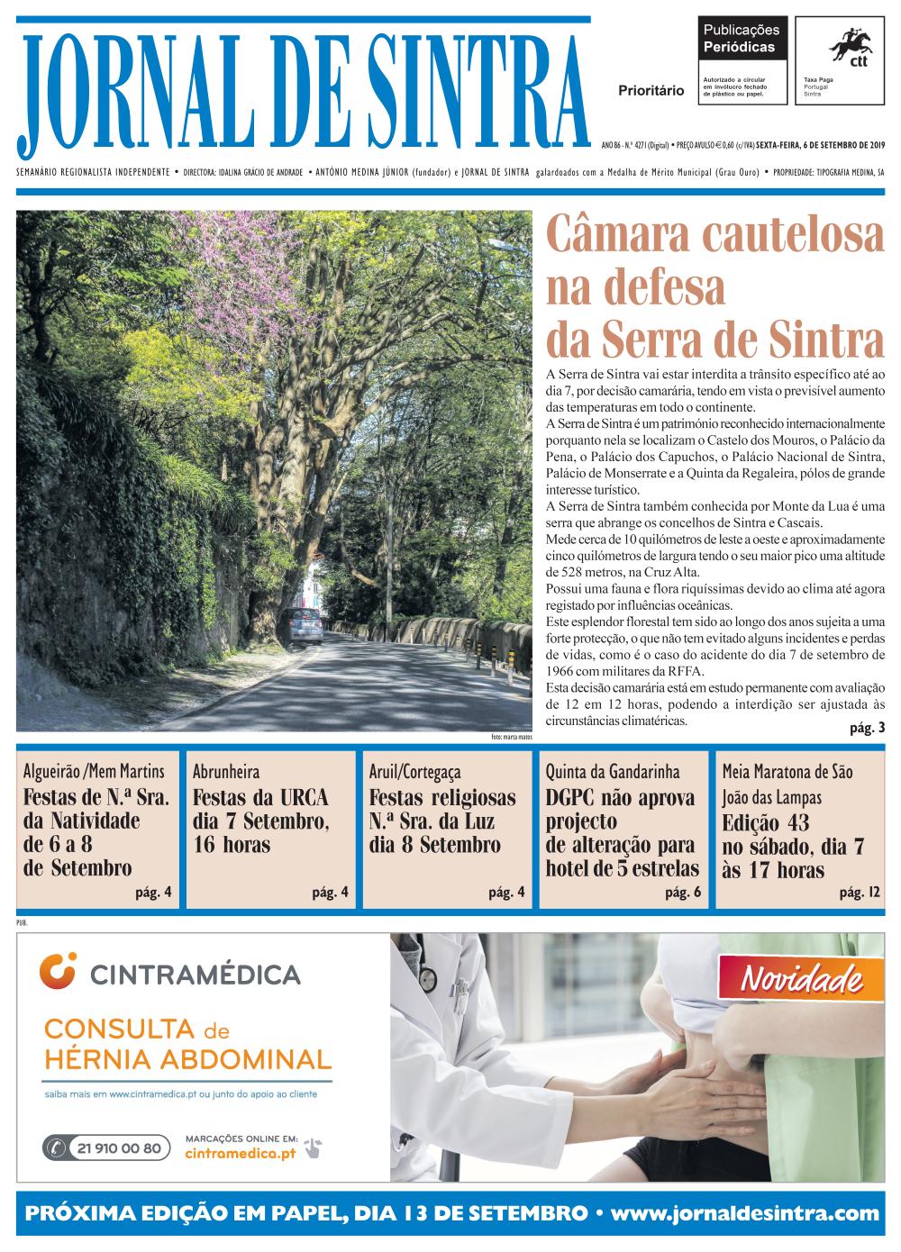 Capa da edição de 6/09/2019