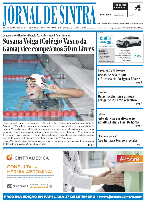 Capa da edição de 20/09/2019