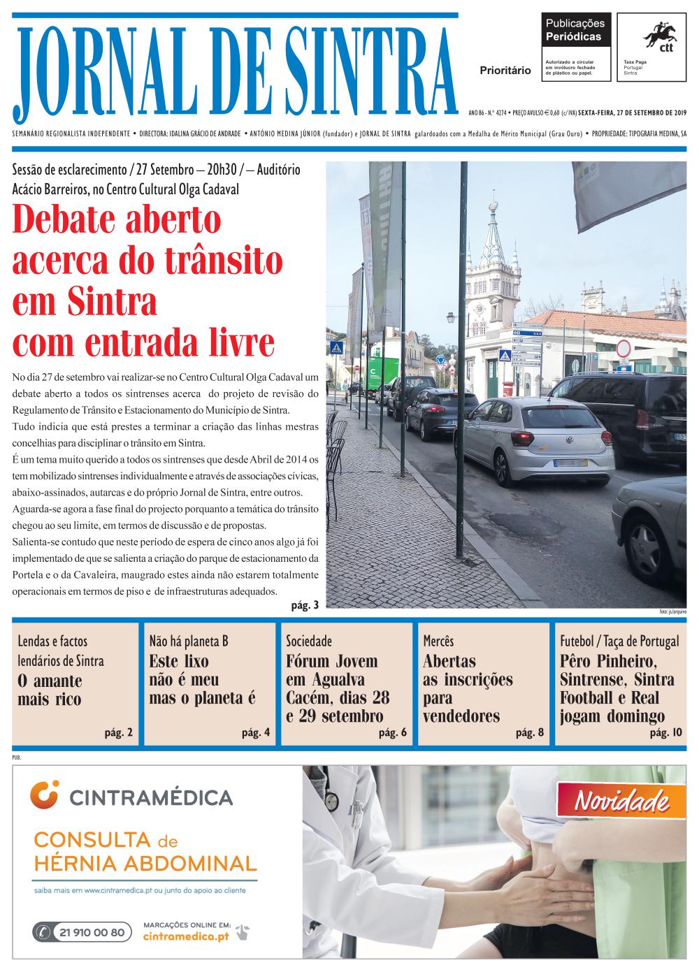 Capa da edição de 27/09/2019