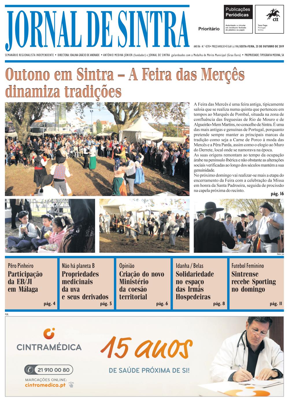 Capa da edição de 25/10/2019