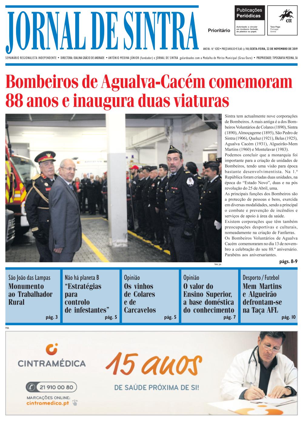 Capa da edição de 22/11/2019