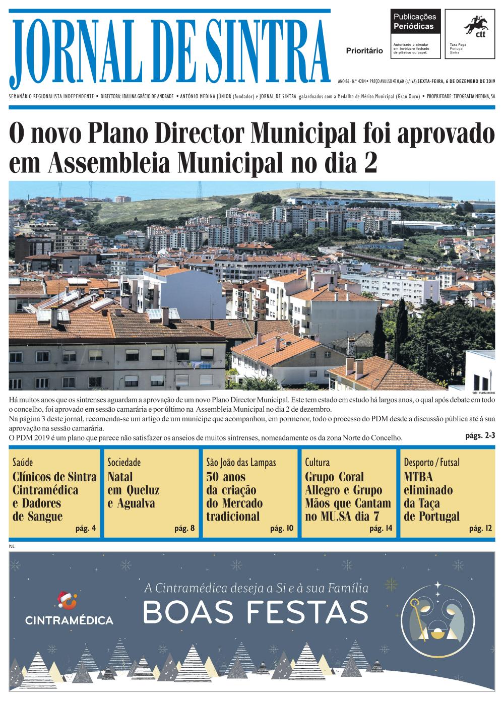 Capa da edição de 06/12/2019