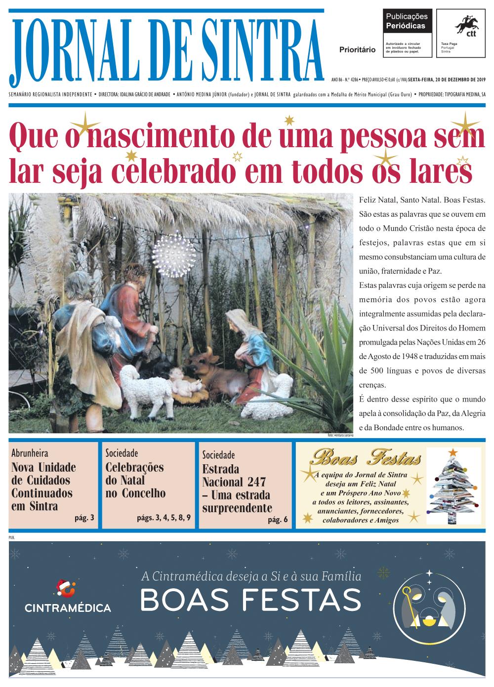 Capa da edição de 20/12/2019