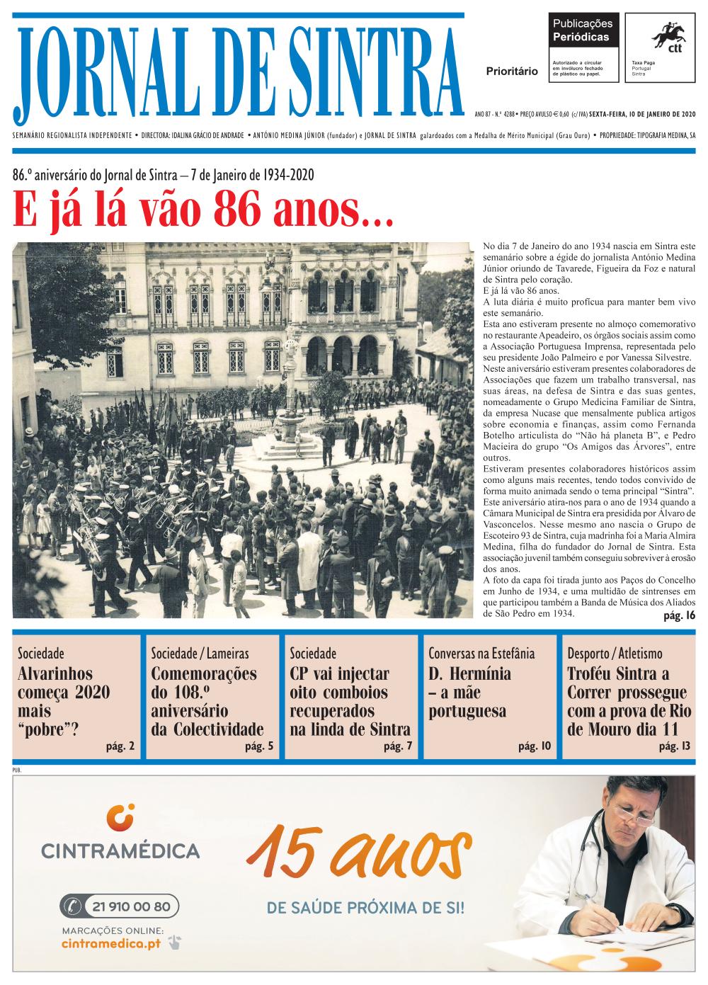 Capa da edição de 10/01/2020