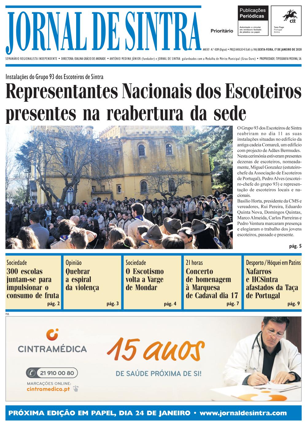 Capa da edição de 17/01/2020