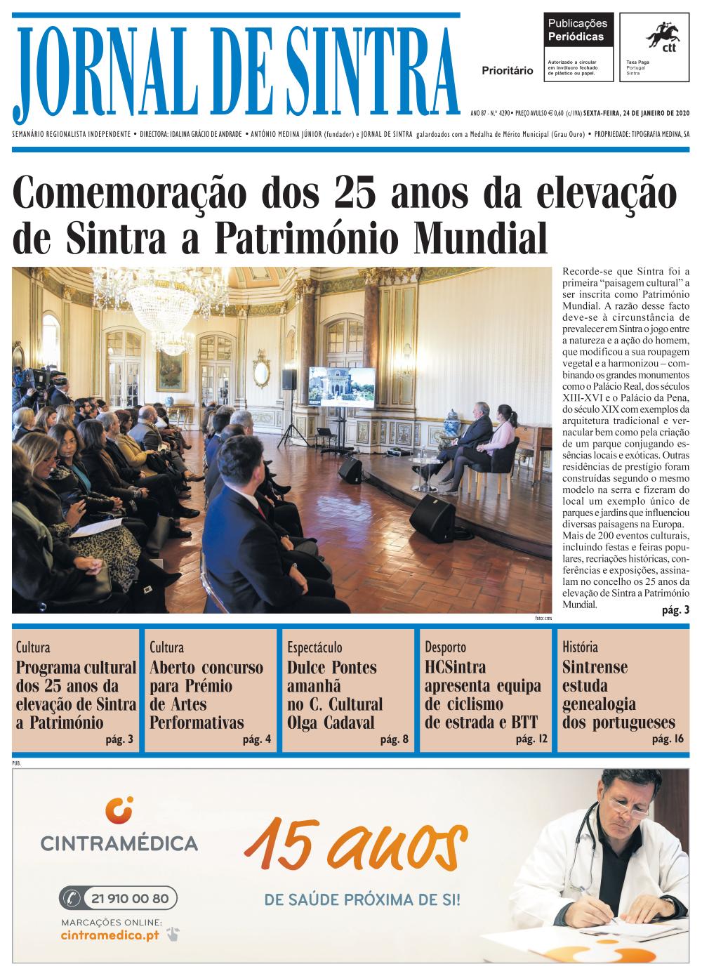 Capa da edição de 24/01/2020