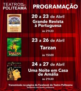 Assista a grandes espectáculos de Filipe La Féria na página de Facebook do Teatro Politeama – Filipe La Féria