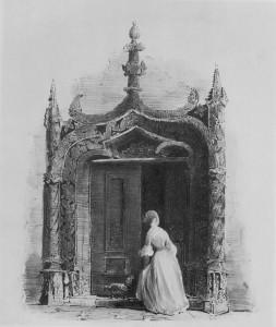 3.Um dos mais belos pórticos do Paço Real de Sintra. Gravura de Celestine Brélaz, década de 1830.