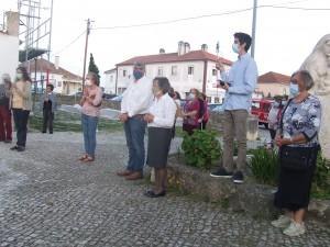 Imagem de N.ª Sra. de Fátima em peregrinação pela Paróquia de S. João das Lampas