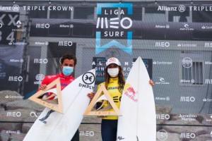 Nacional de Surf (3ª Etapa Liga Meo),Vasco Ribeiro e Teresa Bonvalot vencem na Praia Grande